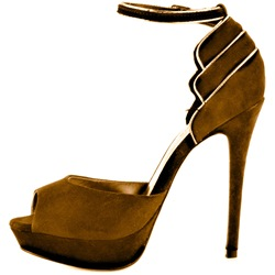 Shoepie Elegant Brown Suede Peep Toe Dress Sandals