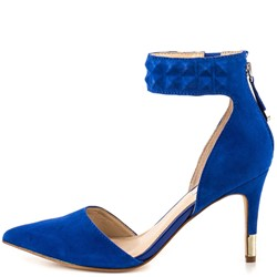 Shoespie Elegant Blue Pointed Toe Ankle Strap Stiletto Heels