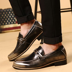 Shoespie Classic Burnish Leather Men's Dress Shoes