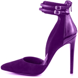 Shoespie Sequined Purple Ankle Wrap Stiletto Heels