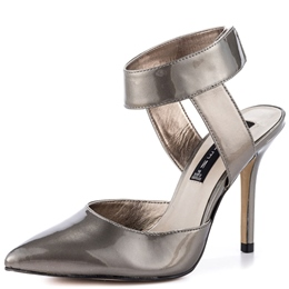 Shoespie Sliver Pointed Toe Ankle Wrap Stiletto Heels