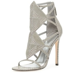 Shoespie Light Gray Stiletto Heel Dress Sandals