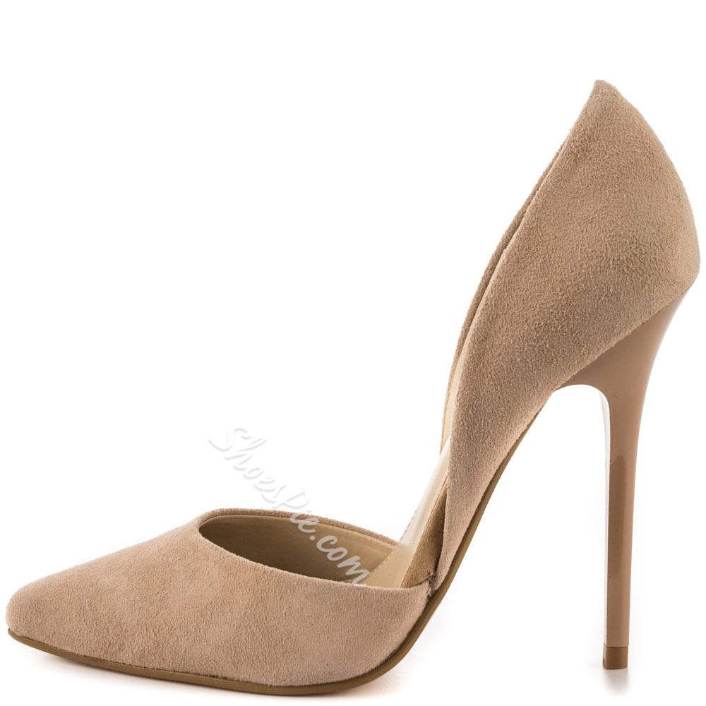 Shoespie Classy Nude Stiletto Heel Pumps Shoespie