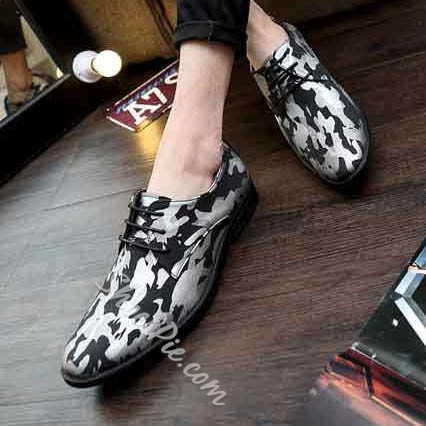 Shoespie Camouflage Print Men's Lace Up Casual Shoes