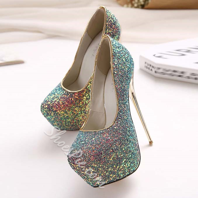 Shoespie Glittering Platform High Heel Pumps