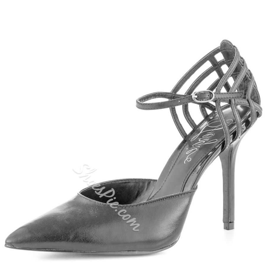 Shoespie Light Gray Pointed Toe Back Spider Wed Stiletto Heels Dress Sandals