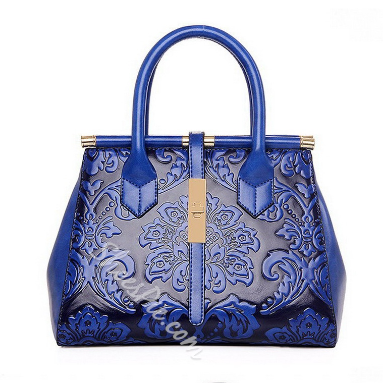 Shoespie Vintage Flower Print Handbag