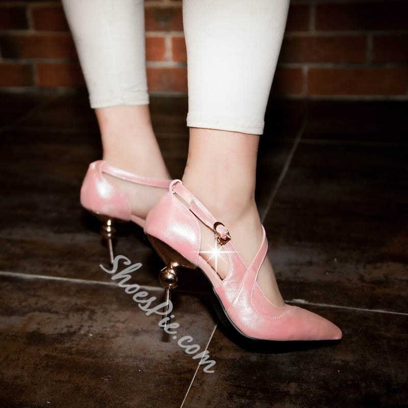 Shoespie Girlish Ball Decoration Heel Pointed Toe Heels