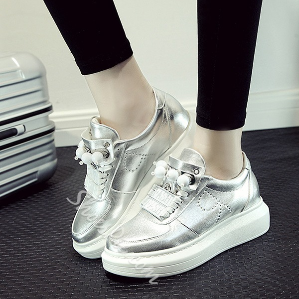 Shoespie Cute Beading Decorated Sneakers