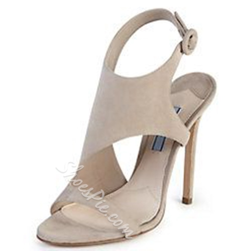 Shoespie Light Apricot Open Toe Dress Sandals