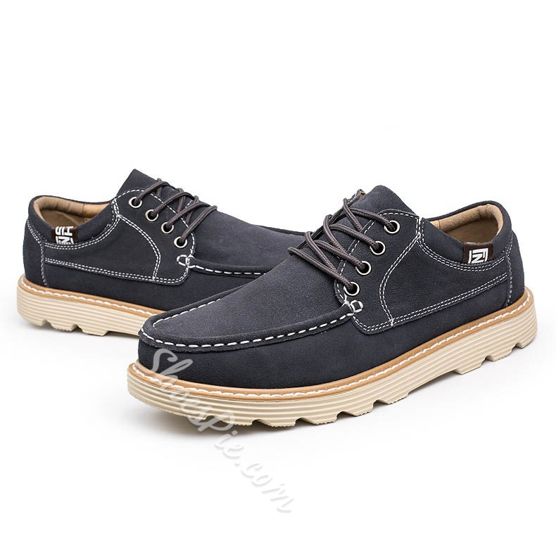 Shoespie Classic Men's Threading Decorated Martin Boots
