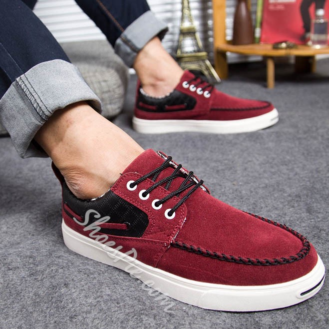Shoespie Threading Bands Lace Up Mens's Shoes