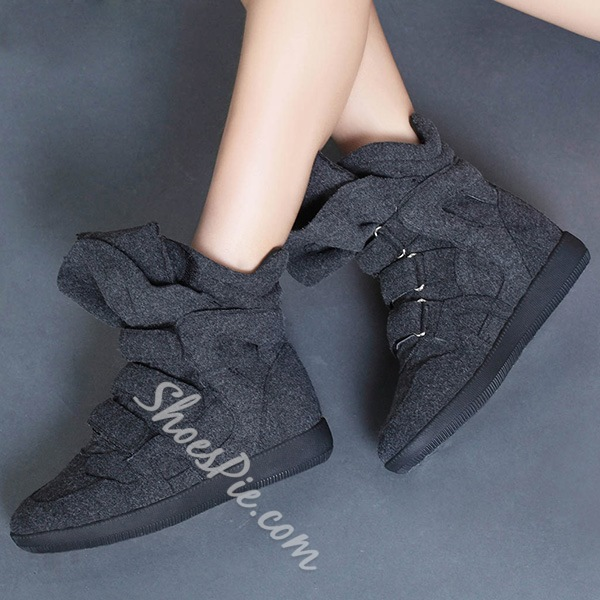 Shoespie Cute High Upper Velcro Elevated Sneakers