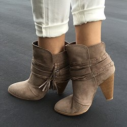 Shoespie Retro Style Chunky Heel Ankle Boots
