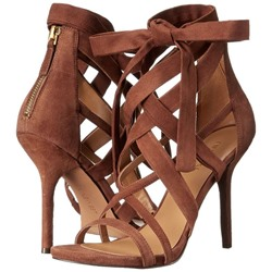 Shoespie Brown Cross Strap Stiletto Heel Dress Sandals