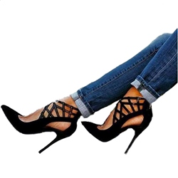 Shoespie Sexy Cutout Pointed Toe Stiletto Heels