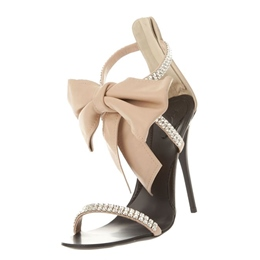 Shoespie Princess Style Rhinestones and Bowties Decorated Dress Sandals