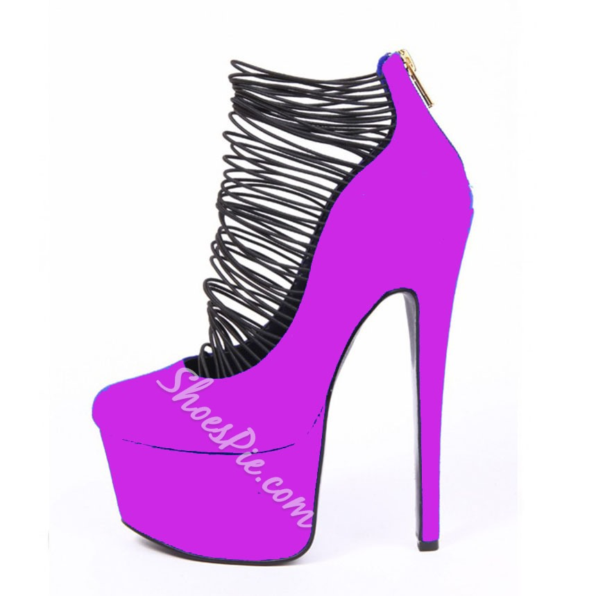 Stylish Colorful Design Platform Heels