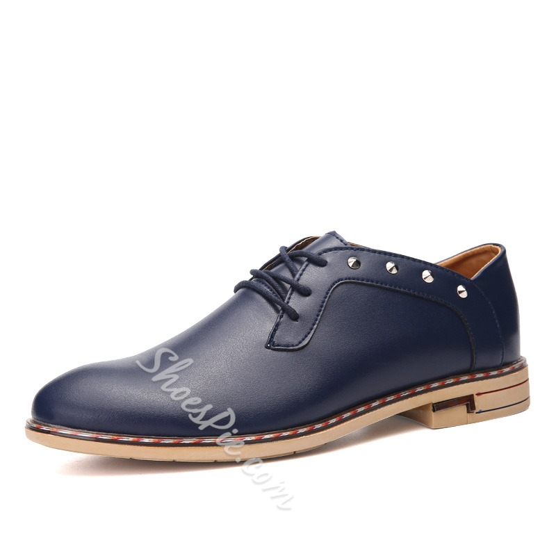 Shoepie Rivets Decorated Men's Dress Shoes