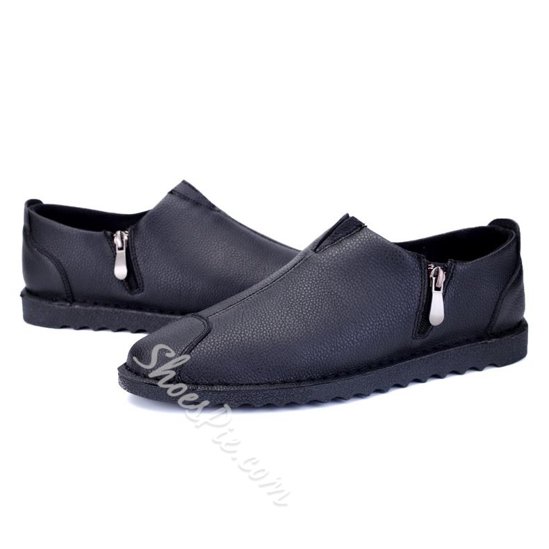 Shoespie Concise Side Zipper Men's Loafers