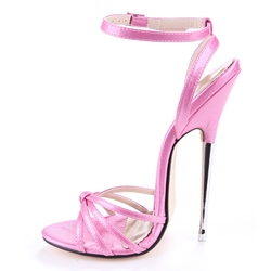 Shoespie Fashionable Metal Heel Ankle Strap Dress Sandals