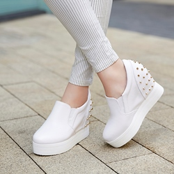 Shoepie Elevated Heel Rivets Sneakers