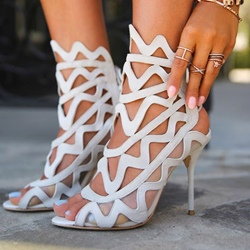 Shoespie Cut Out Peep Toe Dress Sandals