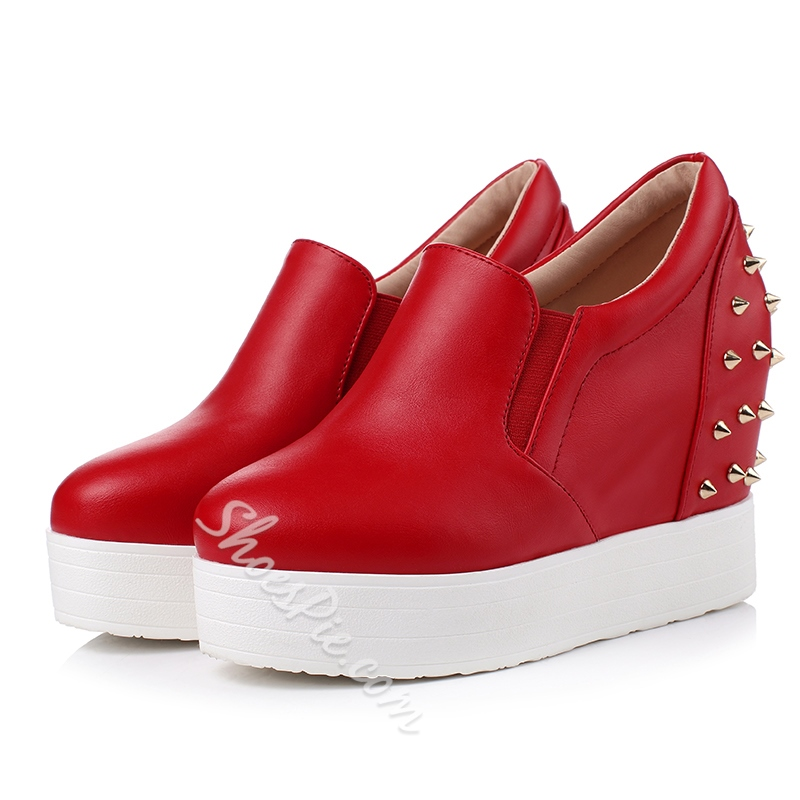 Shoespie Elevated Heel Rivets Sneakers