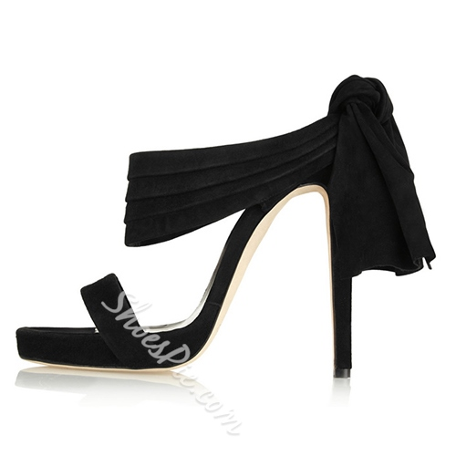Shoespie Back Tied Slipper Dress Sandals