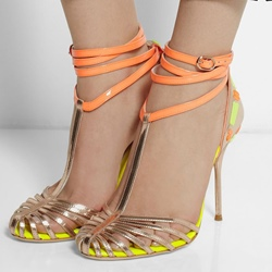 Shoespie Strappy Ankle Wrapped Dress Sandals