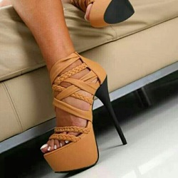 Shoespie Fashionable Cross Straps Platform Party Sandals