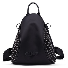 Shoespie Black Rivets One Shoulder Handbag