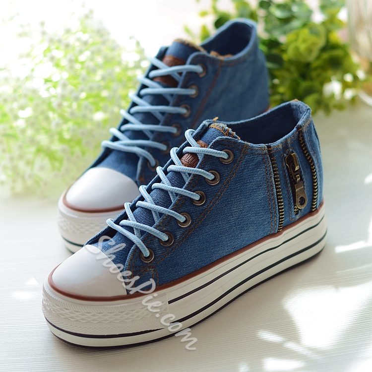 Shoespie Thick Sole Canvas Shoes