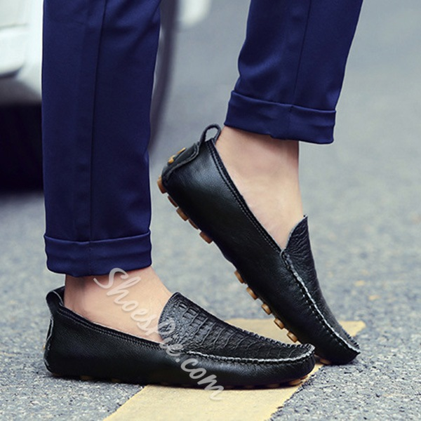 Shoespie New Arrival Embossed Leather Men's Loafers
