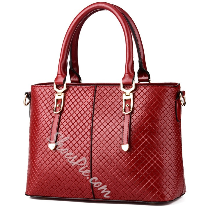 Shoespie OL Style Plaid Handbag