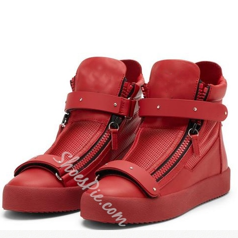 Shoespie Chic Side Zipper Casual Sneakers
