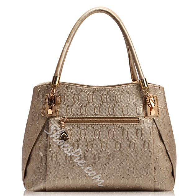 Shoespie Elegant Chain Print Handbag(4 Bags Included)