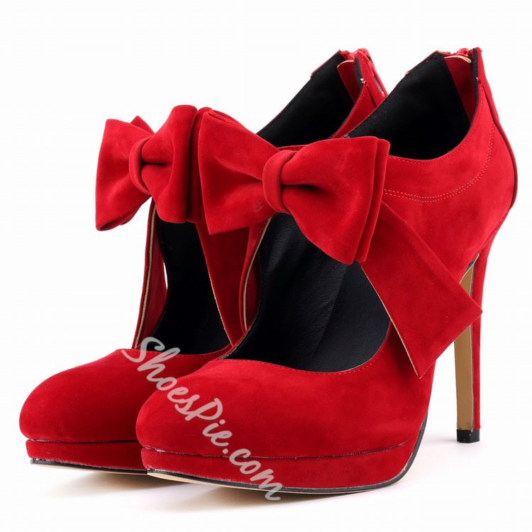Shoespie Sweet Bowtie Stiletto Heels