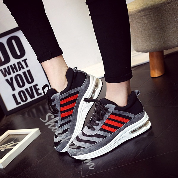 Shoespie Color Contrast Stripes Sneakers