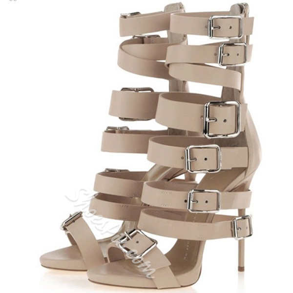 Shoespie Multi Buckles Gladiator Sandals