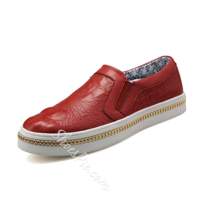 Shoespie Chic Chain Decorated Men's Loafers
