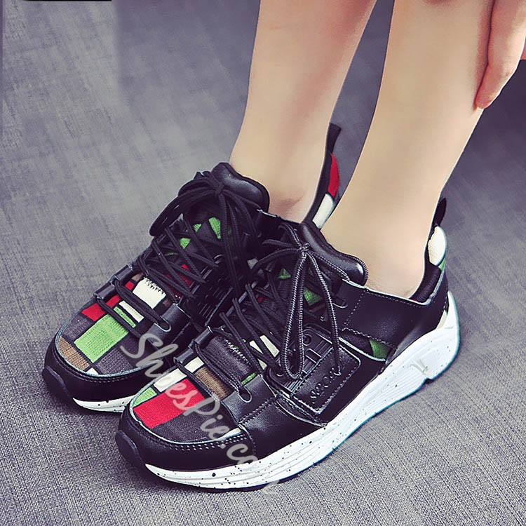 Shoespie Chic Squares Sneakers