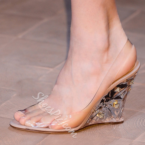 Shoespie Transparent Upper Wedge Sandals