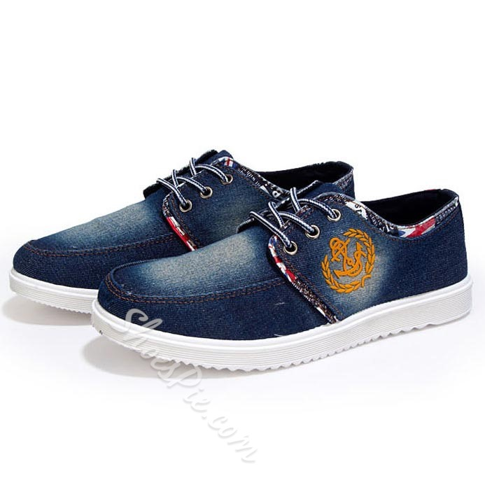 Shoespie Canvas Lace Up Men's Loafers