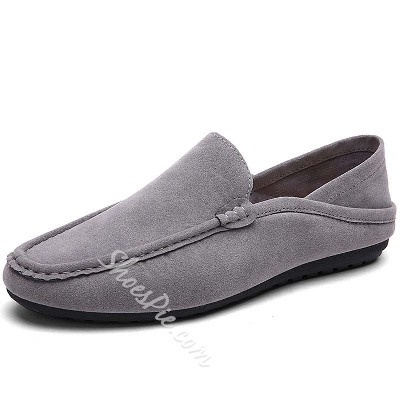 Shoespie Nubuck Solid Color Men's Loafers