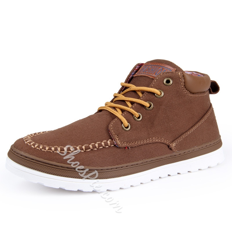 Shoespie Suede Lace Up Men's Martin Boots