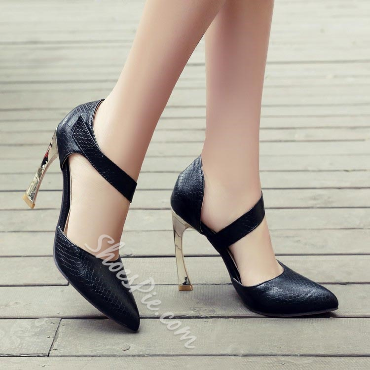 Shoespie Pointed Toe Strange Heel Pumps