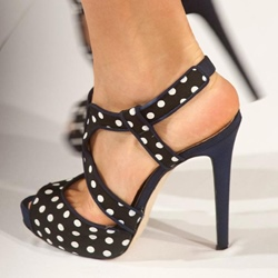 Shoespie Dots Platform Dress Sandals