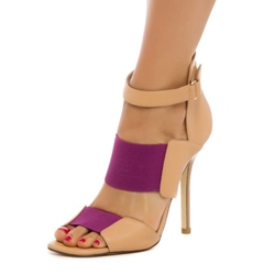 Shoespie Contrast Color Dress Sandals