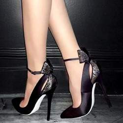 Shoespie Stylish Bowtie Pointed Toe Stiletto Heels
